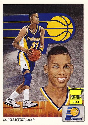 Baseball Card Bust Reggie Miller 1991 92 Upper Deck Basketball