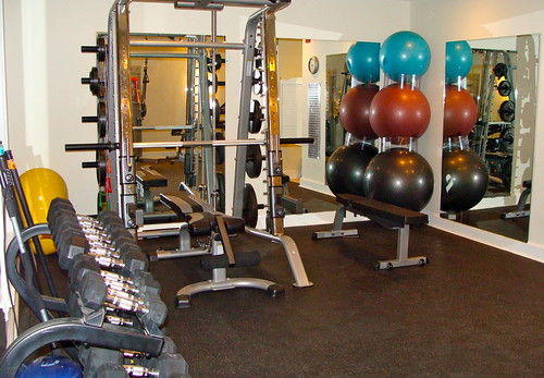 A Private Fitness Floor