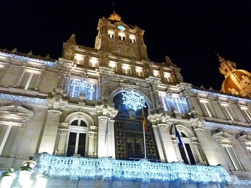 Iluminación en el Ayuntamiento de A Coruña