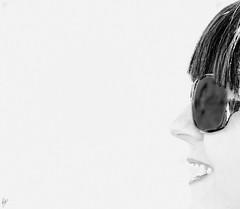 High Keying my friends -14- (Paco CT) Tags: barcelona portrait blackandwhite bw woman blancoynegro mujer spain retrato bn toni highkey esp 2011 clavealta santacolomadecervello pacoct