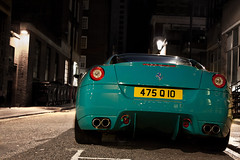 250k. (Alex Penfold) Tags: lighting street camera blue green london cars alex sports car night canon dark photography photo cool shot nightshot image turquoise awesome picture fast super ferrari spot exotic photograph arab supercar spotting exotica supercars   penfold   599 spotter 2011     althani   450d     hpyer