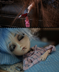 01_K_La llamada_22 (Sheryl Designs) Tags: new blue black anime color eye love face japan hair design carved outfit eyes couple punk doll acrylic dolls eyelashes dress body forum gothic manga foro lips piercing chips wig chip modified designs nana groove pullip 16 custom tae pullips okazaki eyebrows bodies mechanism sheryl shin yashiro sculpt shinichi blackstones junplanning taeyang eyemech taeyangs obisu ayrin sheryldesigns pullipes forodepullips