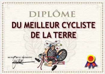 Al millor ciclista de la Terra.