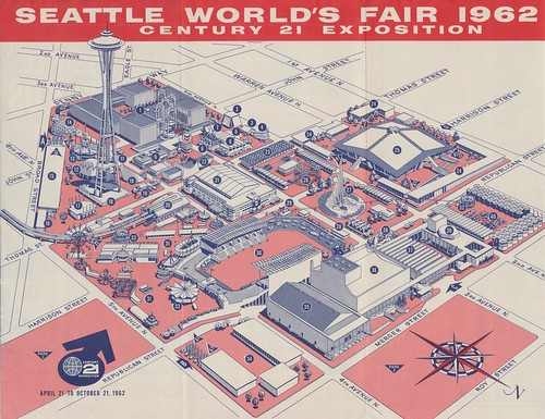 Seattle World's Fair 1962 Map of the Fairgrounds