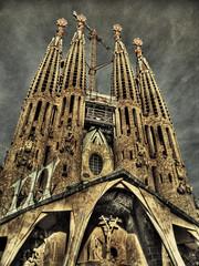 [フリー画像] 建築・建造物, 教会・聖堂・モスク, サグラダ・ファミリア, 世界遺産, スペイン, 201101130100