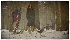 Sometimes it's just you and the Demons that haunt you (sharona 315 ) Tags: friends snow me woods commerce boo falling sometimes demons hauntings lookbetweenthetreestotherightofme