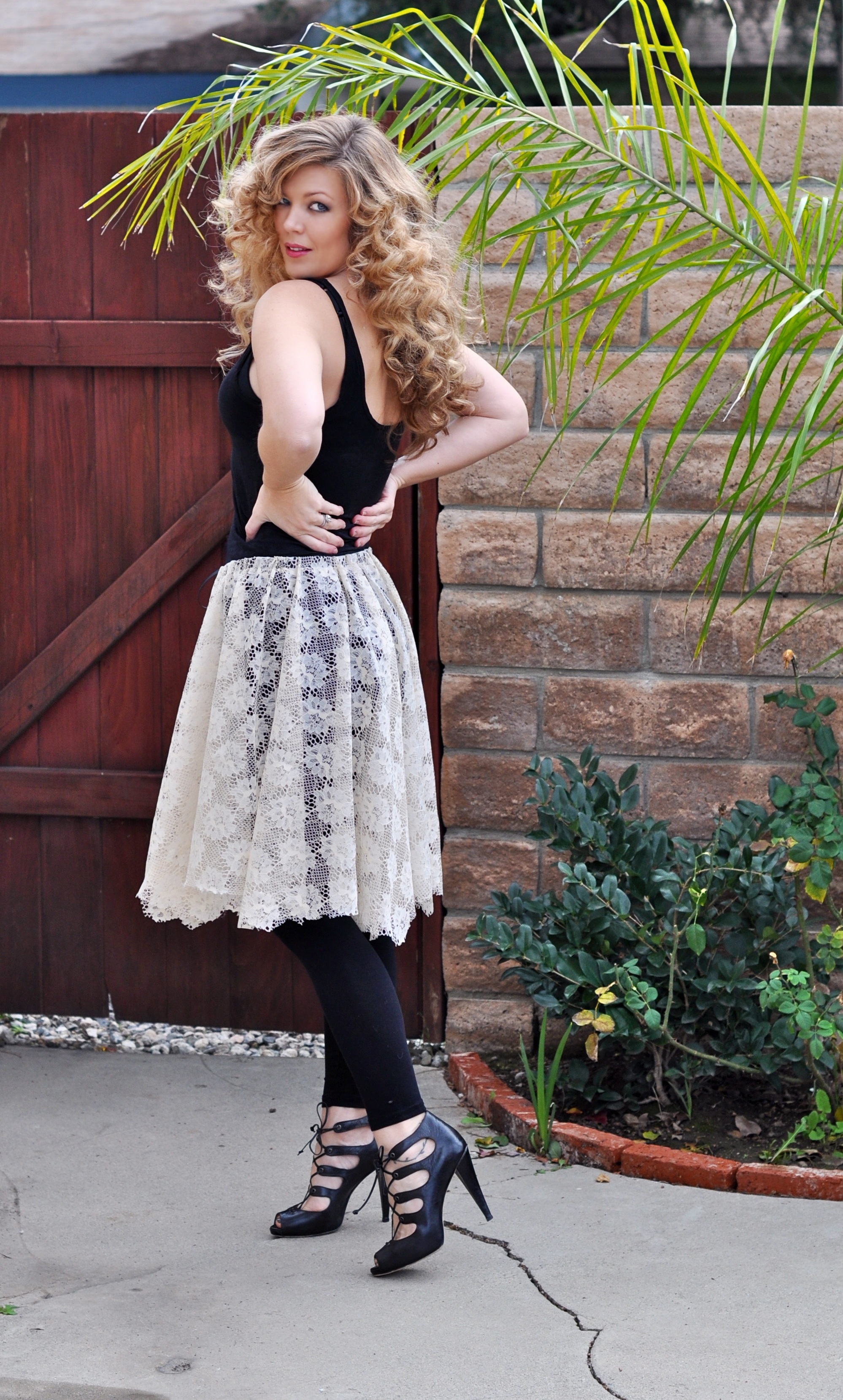 ivory lace ballet skirt