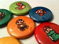 SUPER MARIO BROS. 3 - a pinback button set (skippydogdesigns) Tags: game pin forsale nintendo videogames badge button nes etsy supermario supermariobros classicgames pinbackbuttons