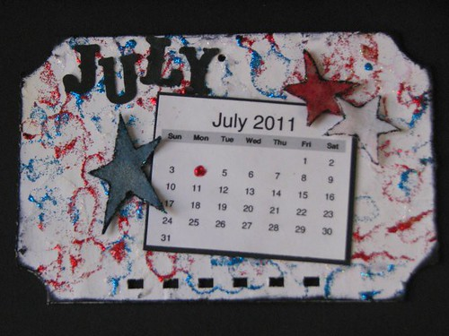 Ranger Technique Calendar - July - Stickles Glitter Glue 008