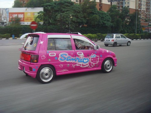 Hello Kitty Kancil Car