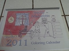 Molly the Majorette Baton Twirling 2011 Coloring Wall Calendar (twirlplanet) Tags: gifts accessories majorette supplies baton twirling majorettes