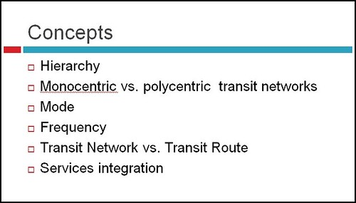 Slide, Metropolitan Mass Transit Planning: Towards a Hierarchical and Conceptual Framework