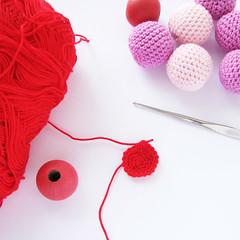 crocheted beads