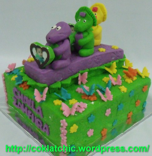 Barney and friends cake – CHAYLA ZHAFIRA