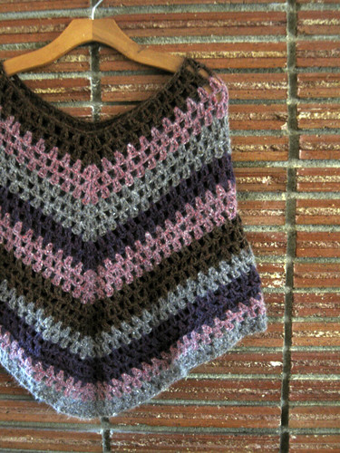 Crochet past:  poncho (why?)