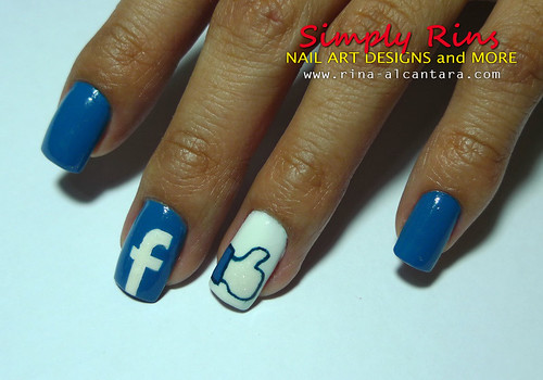 Facebook Nail Art Design 06