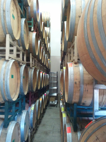 The barrels at Martin Ranch Winery