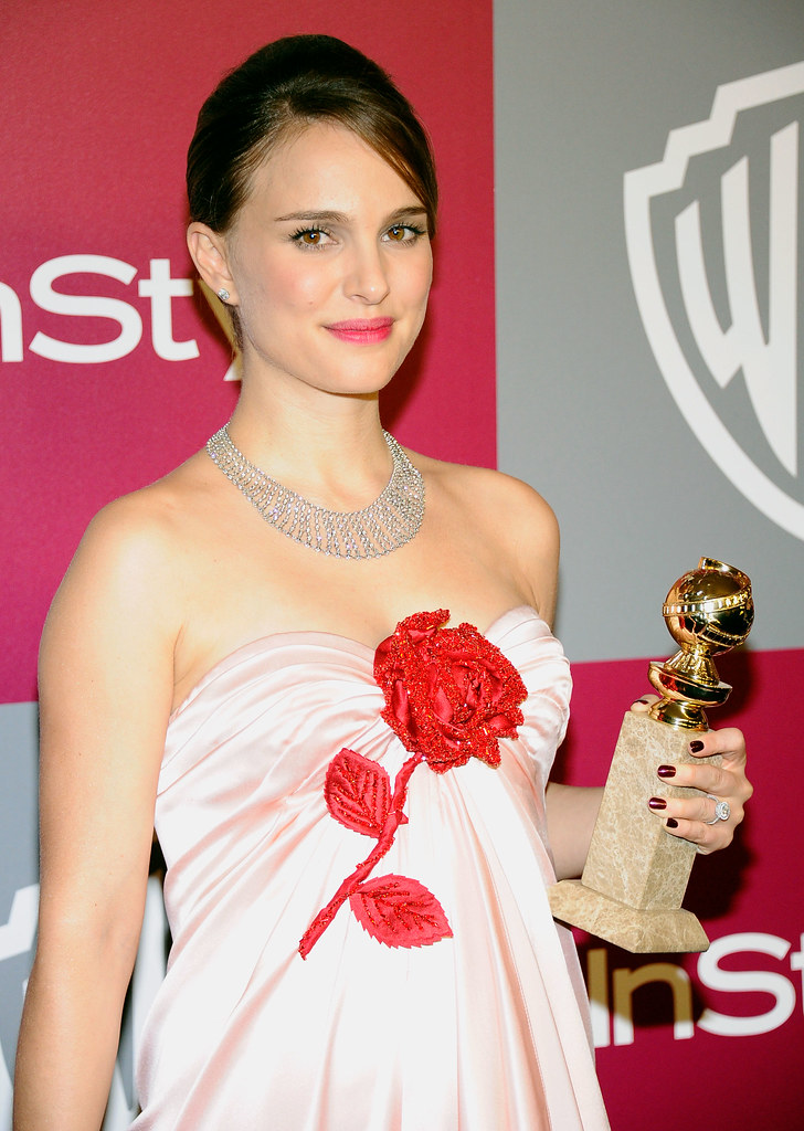 Natalie Portman rose dress 2011 Golden Globes