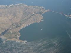 Overhead (tifftoh) Tags: sf sanfrancisco bay francisco aerialview aerial goldengatebridge goldengate bayarea aerialphoto sanfranciscobay windowseat