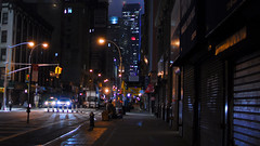 . (Le Cercle Rouge) Tags: street city nyc newyorkcity blue light shadow urban usa ny paris colors night dark rouge lights weird us lowlight colorful moments darkness tales magic low ombre bleu sombre feeling unreal moment cinematic incredible nuit insomniac bizarre notte couleur nightwalk cercle obscure trange incroyable insomnie irrel lecerclerouge cinmatique insomniaque