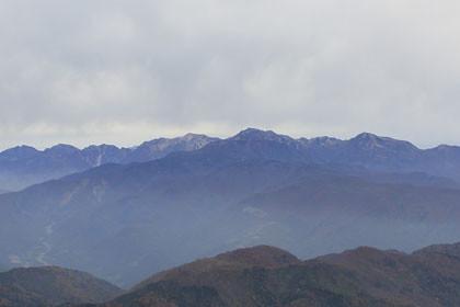 雨飾山からみた後立山連峰