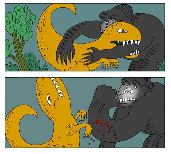 kong dinosaur fight