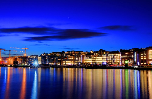 Aker Brygge in the evening