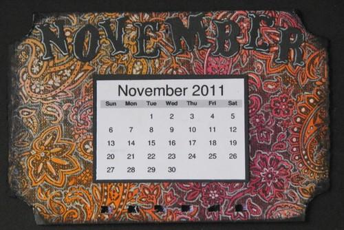 Ranger Tech Calendar - November - White Pigment Pen 007