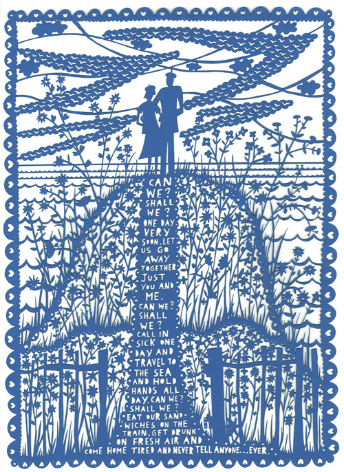 Can We Valentines Laser Cut by Rob Ryan
