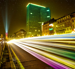 Brussels By Night (Ben Heine) Tags: road street city longexposure pink blue light brussels lightpainting color building green art cars window lamp colors car yellow shop architecture modern night speed skyscraper way stars photography star restaurant drive town rainbow highway shiny colorful technology shine cross belgium action perspective traces illumination fast samsung tunnel center run bynight line route vision future thinking access sciencefiction woohoo lightening society stress effect technique depth etoile forward consumption treatment postprocessing proactive massconsumption efficacy benheine tronlegacy nx10