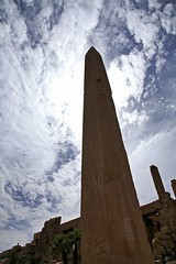 Obelisk in Karnak temple, Luxor, Egypt カルナック神殿 (travelingmipo) Tags: africa travel sky archaeology clouds temple photo ancient egypt picture middleeast unesco arab egyptian obelisk karnak luxor 旅行 thebes worldheritage 写真 古代 世界遺産 エジプト 神殿 アフリカ カルナック 遺跡 الأقصر 中東 ルクソール アラブ オベリスク ヒエログリフ
