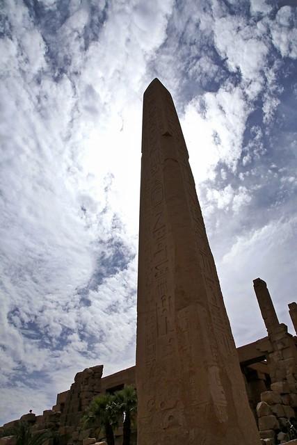 エジプト ルクソール カルナック神殿オベリスク