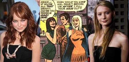 05 Emma Stone y Mia Wasikowska candidatas para el reinicio de Spider-Man