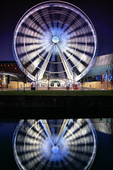 Wheel of Light (Chris Beesley) Tags: longexposure light reflection water wheel night liverpool albertdock merseyside liverpoolone pentax1645 liverpooleye pentaxk100dsuper