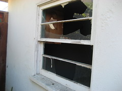 4574 Whaley Broken Garage Window (LizHolmes1) Tags: mcclure 4574 4574whaleyand13912mcclure