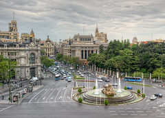 Plaza de Cibeles, Madrid (Spain), HDR (marcp_dmoz) Tags: madrid plaza city espaa fountain architecture photoshop square spain arquitectura nikon view traffic map platz brunnen goddess fuente ciudad stadt vista handheld architektur nikkor 1735mmf28d verkehr tone blick hdr cibeles spanien diosa trafico fontne gttin photomatix tonemapped tonemapping tonemap d700