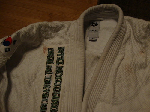 They christened my gi! I'd never had blood on my gi before. :)