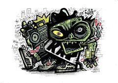 Ra (i o k E // Delirium Tremens) Tags: street wild ny graffiti 80s hip hop rap styel