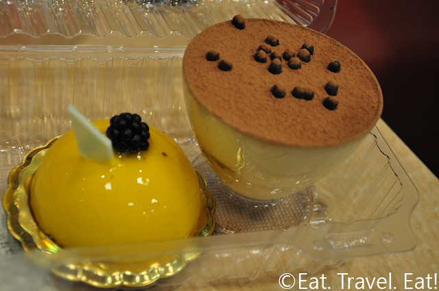Mango Mousse and Tiramisu