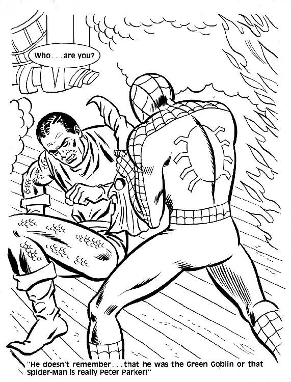 Spider-Man Unmasked! Coloring Book047