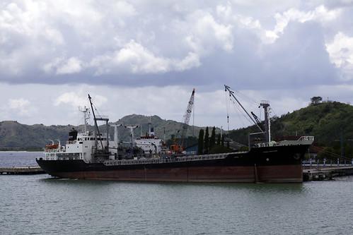 Ship at Lembar harbour