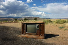 Kill Your TV (jrtce1) Tags: newmexico southwest abandoned television clouds us tv route66 thunderstorm killyourtelevision mesa zenith quasar motherroad colortv killyourtv chromacolor jrtce1