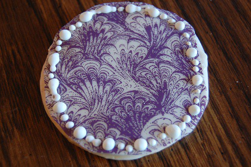 Ladies' Night Cookies in White Chocolate Purple Shells