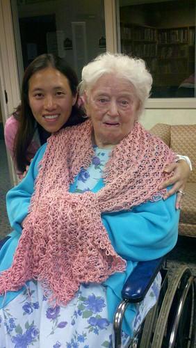 Grandma captain's new shawl