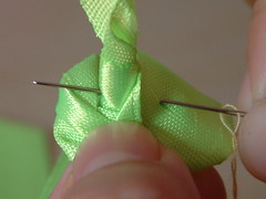 how to make ribbon roses-12