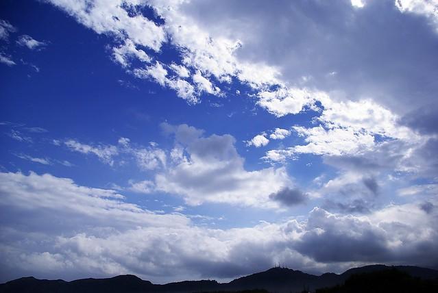 K10D下的雲朵