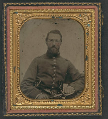 [Unidentified soldier in Union uniform with dual revolvers and sword, wearing eyeglasses] (LOC) (The Library of Congress) Tags: usa soldier glasses gun unitedstatesofamerica union civilwar pistol sword libraryofcongress revolver eyeglasses yankee yankees pistols thenorth theunion americancivilwar warbetweenthestates uscivilwar thecivilwar xmlns:dc=httppurlorgdcelements11 dc:identifier=httphdllocgovlocpnpppmsca26941