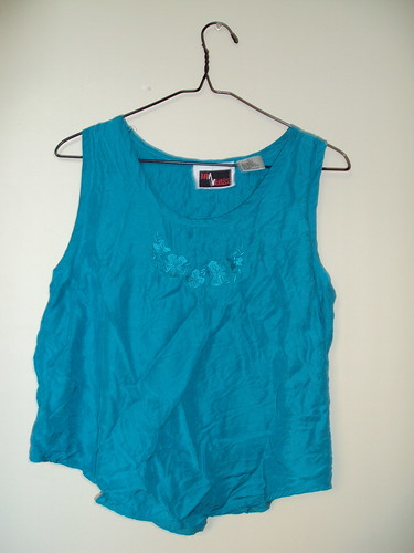 Teal Embroidered Tank