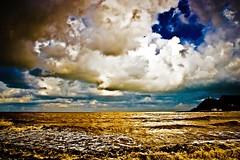 Back to black (Señor L - senorl.blogspot.com.es) Tags: blue sea azul clouds gold mar spain amy wave asturias nubes ola oro winehouse ribadesella señorl luisalopez