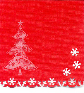 Xmas card snowflakes